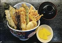 213  VEGE TENDON WITH MISO SOUP