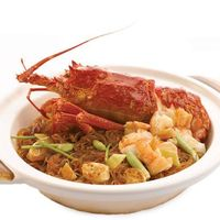 Live Australian Lobster Braised with Glass Vermicelli and 'Sha Cha' Sauce (900g) 澳洲龙虾沙茶粉丝(900克)