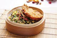 Black Olive Fried Rice w Kai Lan & Chicken Chop 鸡扒橄榄炒饭