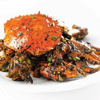 黑胡椒螃蟹	Black Pepper Crab with Fresh Peppercorn