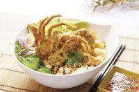 ⭐ Bún Noodle w Softshell Crab  & Fried Spring Rolls