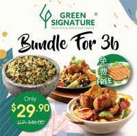 Bundle For 3 Dishes Rice/Noodle
