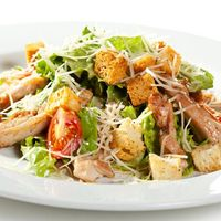 Mixed Leaf Caesar Salad with Grilled Chicken