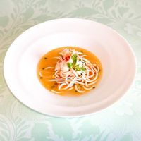 Poached Inaniwa Noodle, Canadian Lobster Meat