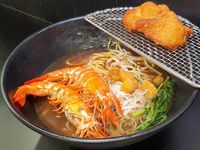 Prawn Noodle with Prawn Paste Pork Ribs