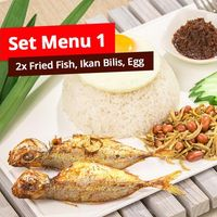 Set Menu 1 (Double Fried Fish Set)