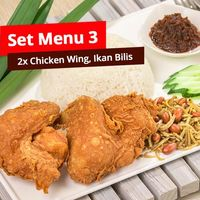 Set Menu 3 (Double Chicken Wing Set)