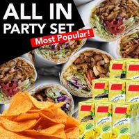 ALL IN PARTY SET! (Most Popular)- Platter of 40 Half Rolls + Chips + Assorted Drinks
