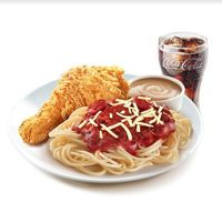 Value Meal 1pc Chickenjoy with Jolly Spaghetti and Drink (Original)