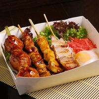Chicken & Pork Yakitori Bento