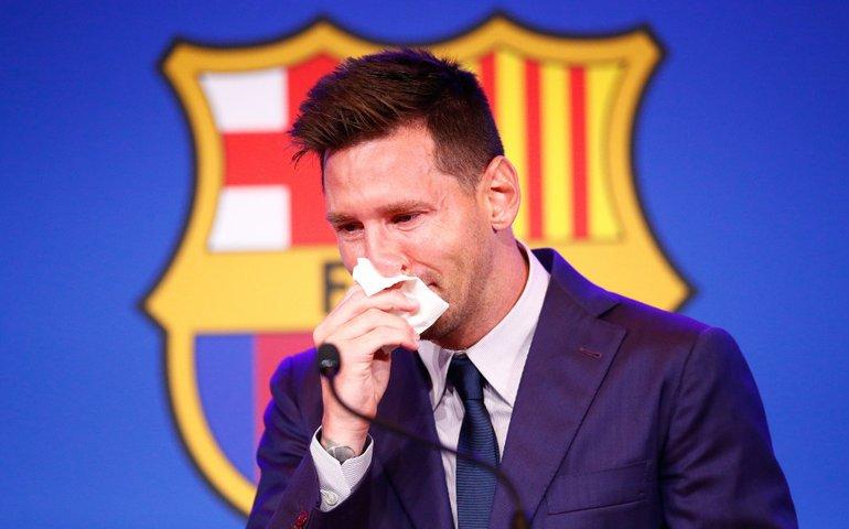 Паперову серветку, в яку плакав Мессі, йдучи з «Барселони», продають за 1 $млн