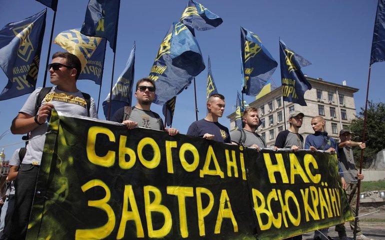 У сутичках на акції Нацкорпусу під Офісом президента постраждали поліцейські