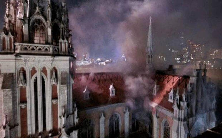 Пожежа в костелі Св. Миколая: названо причину