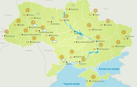 Новий тиждень розпочався в Україні гострим, свіжим, навіть холодним, повітрям