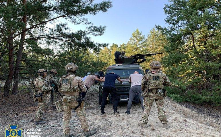 Фоторепортаж: СБУ провела антитерористичні навчання поблизу кордону з Білоруссю