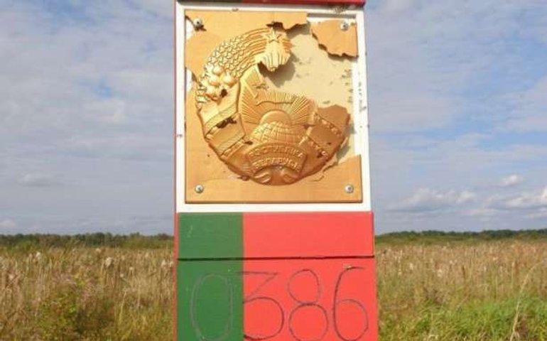 Білоруський прикордонний знак обстріляли з території України