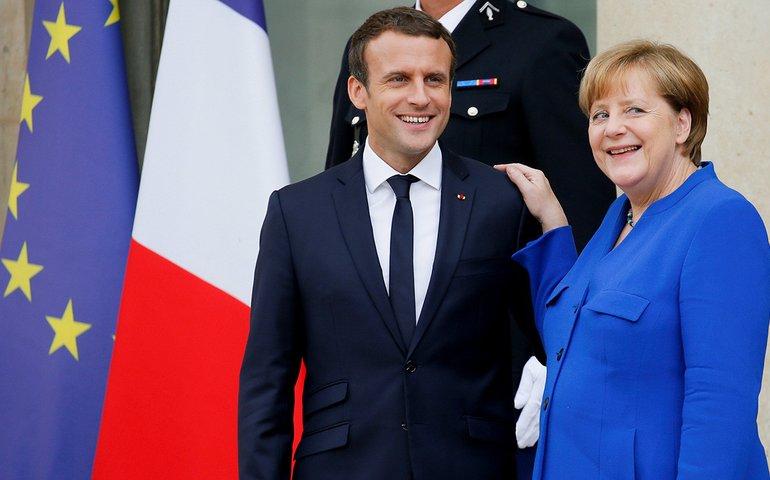 Президент Франції Еммануель Макрон та канцлерка Німеччини Ангель Меркель проведуть зустріч