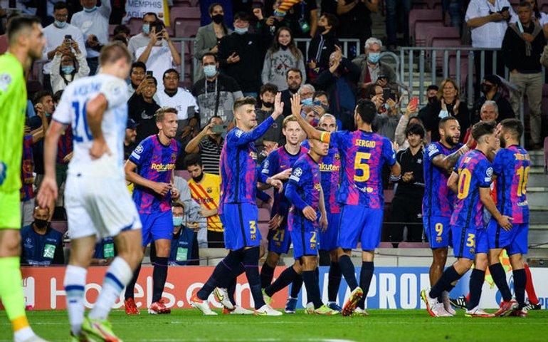 Піке приніс перемогу Барселоні, забивши єдиний гол в ворота Динамо