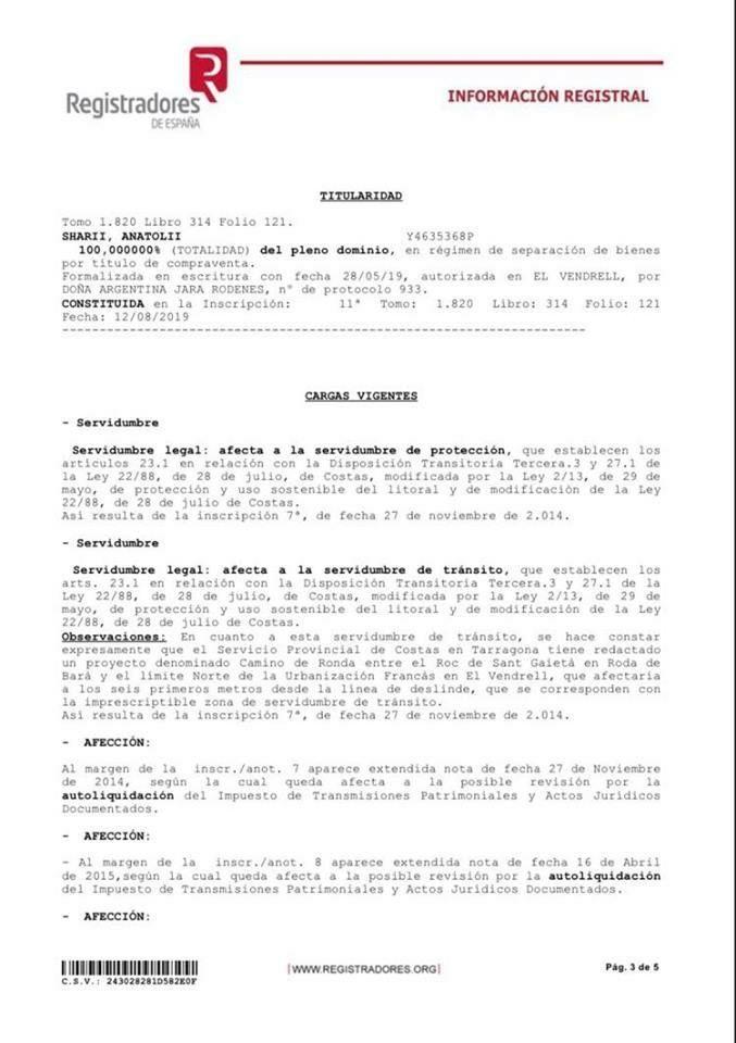 собственность Шария в Испании