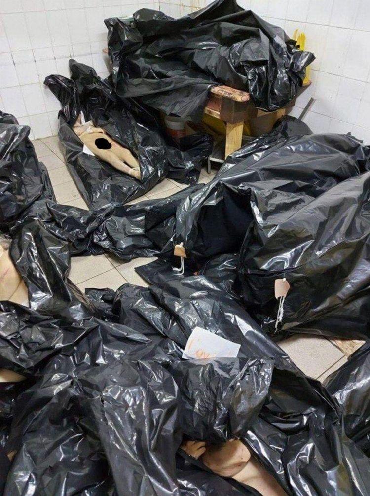 Мешки с трупами в морге Томска