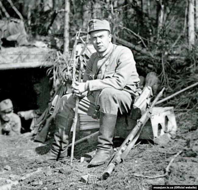 Роман Дудинський, сотник УСС. Карпати, гора Маківка, 1915 рік