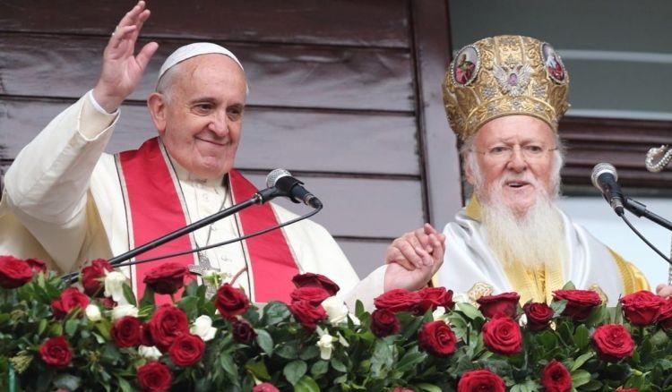 Вселенский патриарх Варфоломей и папа римский Франциск