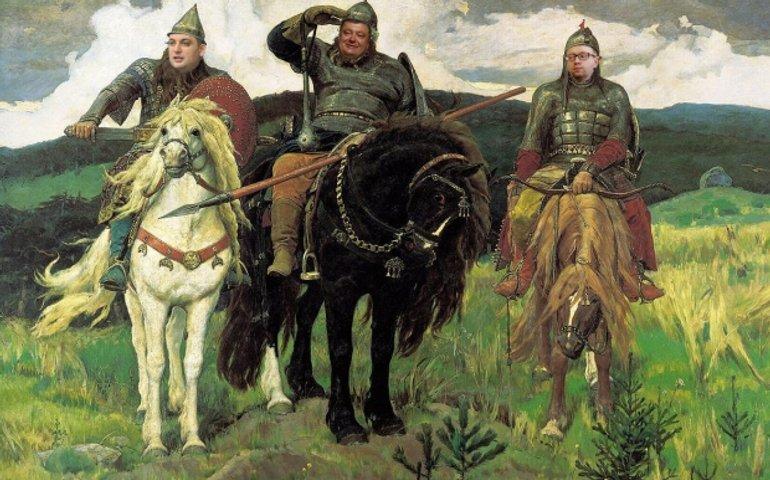 Муромец, Добрыня и Попович — искреннего охуения пост