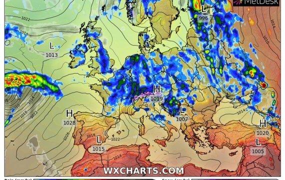 Прогноз погоди на середу, 19 травня