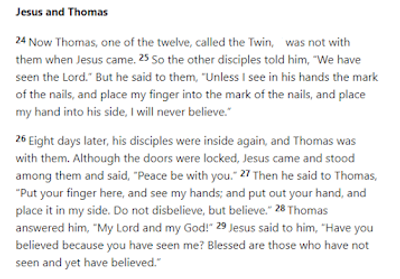 """""""Doubting Thomas"""" Tells Us All We Need To Know About Christianity"""