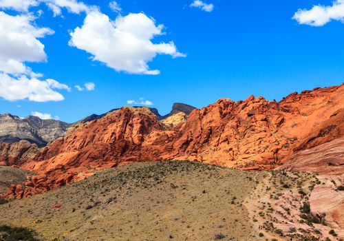 red rock formation at red rock canyon las vegas nevada
