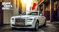 Michael Rides a Rolls Royce Car Through Los Santos City