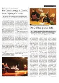 2009 O Festival de teatro nos jornais.