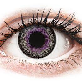 ColourVUE Fusion Violet Gray - Τριμηνιαίοι Μη διοπτρικοί (2φακοί)