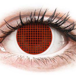 ColourVUE Crazy Lens - Red Screen - Μη διοπτρικοί Ετήσιοι φακοί επαφής (2φακοί)