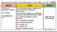 NCR Plus areas shift to GCQ with heightened restrictions from May 15 to 31, says Palace