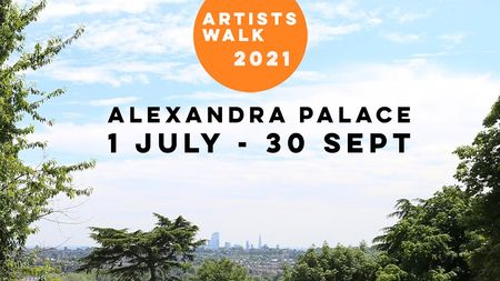 poster or flyer advertising event Artists\' Walk in Alexandra Park