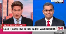 Liberal network CNN presses Health Sec. Becerra on his call for vaccinated people to keep wearing masks. He has trouble defending it.