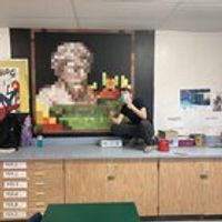 I just finished a Minecraft mural at my school!