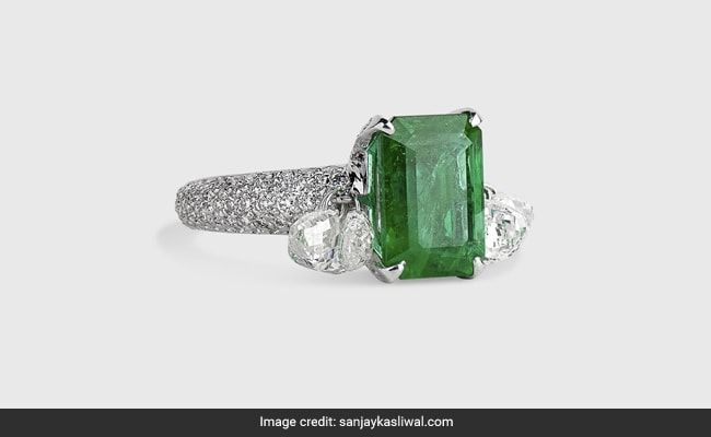 A $17,500 Emerald Ring Worn With A Gown - Or Jeans