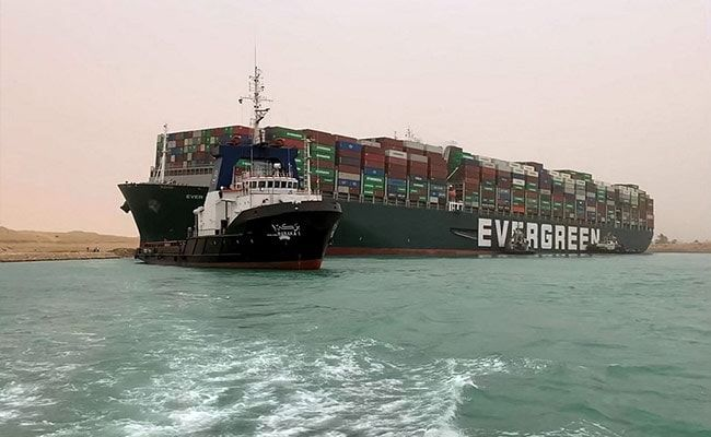 Suez Canal Suspends Traffic As Efforts To Dislodge Ship Continue