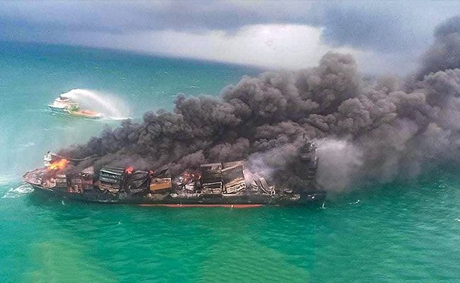 Burning Ship With Hazardous Chemicals Could Cause Acid Rain In Sri Lanka: Report
