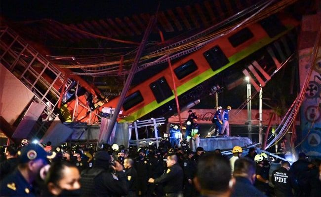 Chilling CCTV Video Shows Elevated Metro Plunging To Ground, 20 Dead