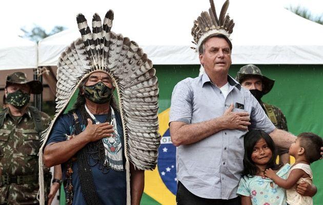 Brazil President Visits Indigenous Lands In Amazon Despite Protests