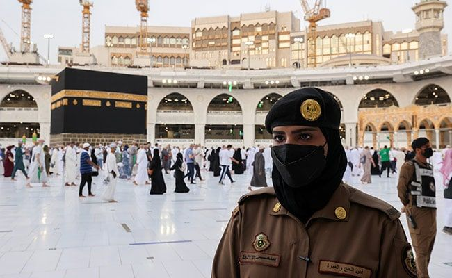 In A First, Saudi Women Soldiers Stand Guard In Mecca During Haj