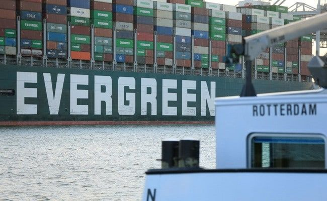 Giant Ship Ever Given That Blocked Suez Canal Arrives In Rotterdam