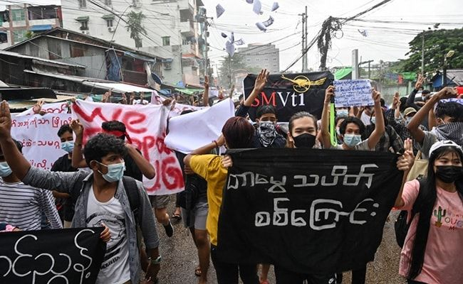 Protesters Mark Anniversary Of 1962 Rallies Against Myanmar's First Junta