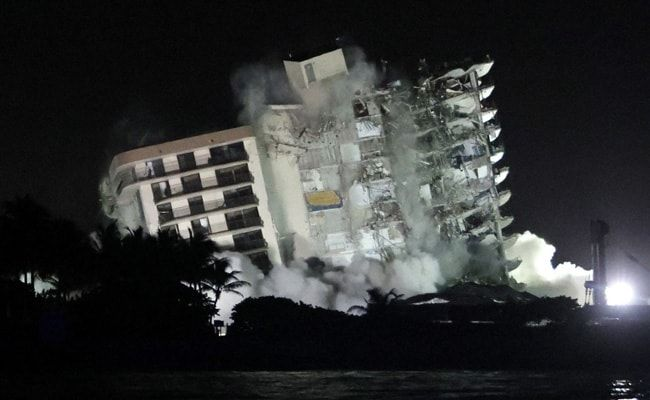 Rest Of Collapsed Florida Apartment Block Demolished