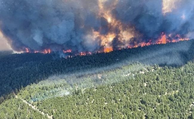 Over 1,000 People Evacuated As Canadian Fires Engulf Town