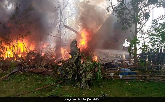Military Plane In Philippines Carrying 85 People Crashes: Army Chief