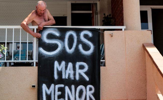 Thousands Rally To 'Hug' Spain's Dying Mar Menor Lagoon